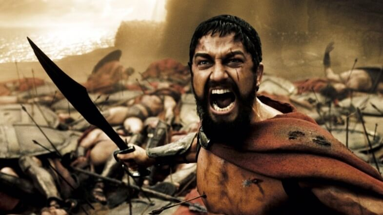 "Yelling soldier from the film ""300"""