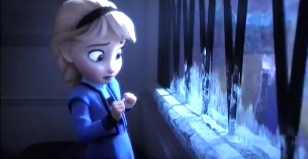 "Image of young Elsa from the film ""Frozen"""